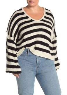 Madewell Stripe Balloon Sleeve Knit Sweater (Regular & Plus Size)