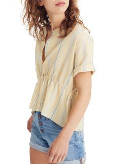 Madewell Stripe Drawstring Waist Shirt
