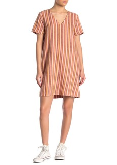 Madewell Stripe Linen Blend Print Easy Dress