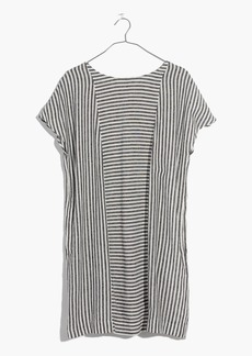 Stripe-Play Button-Back Tee Dress