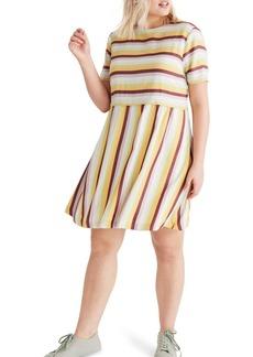 Madewell Stripe Scoop Back Dress
