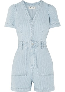 Madewell Striped denim playsuit