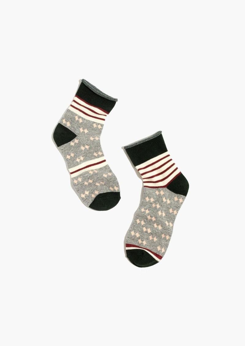 Madewell striped diamond ankle socks