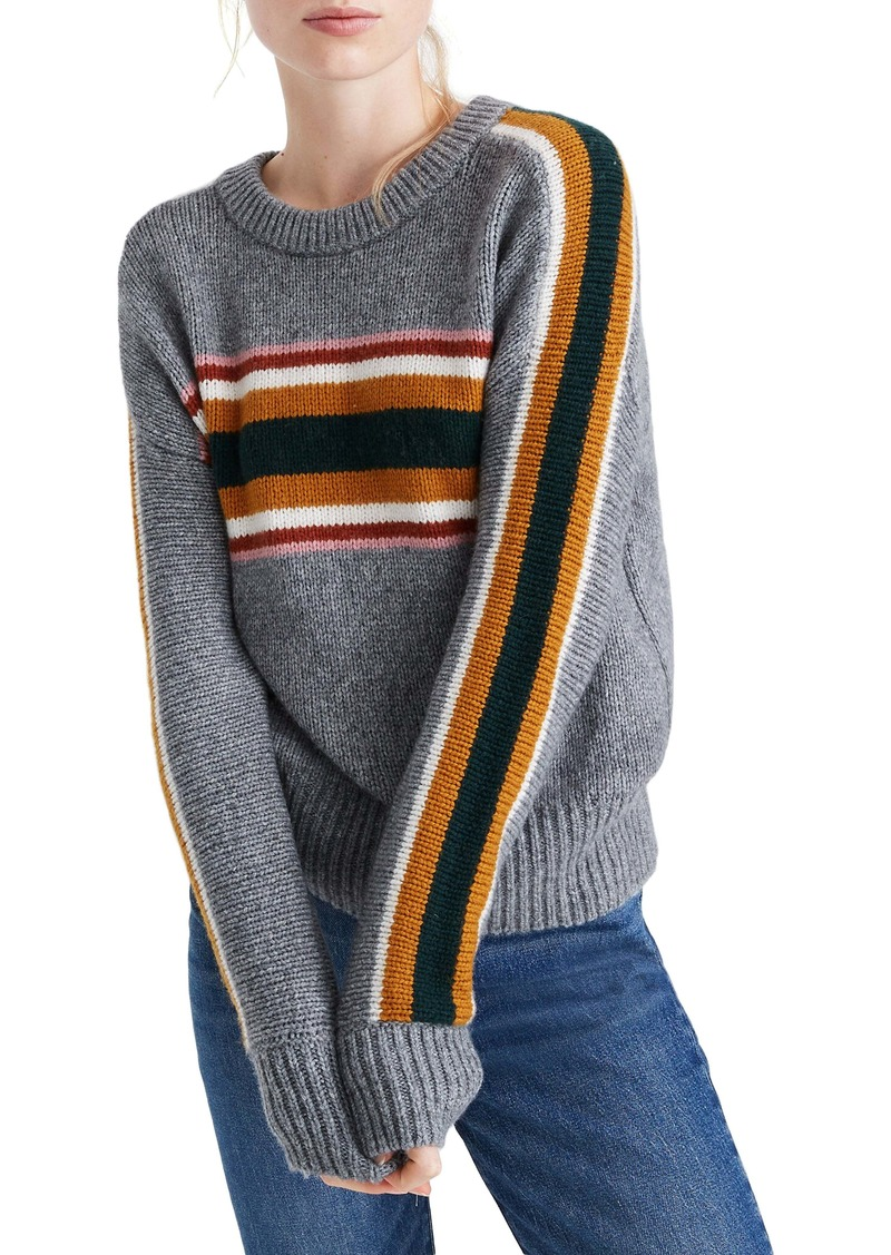 Madewell Striped Heath Pullover Sweater