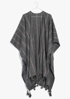 Madewell Striped Poncho Scarf