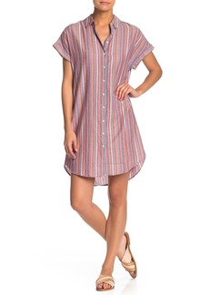 Madewell Striped Short Sleeve Shirt Dress