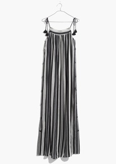 Striped Side-Button Maxi Dress
