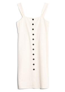Madewell Texture & Thread Button Front Dress (Regular & Plus Size)