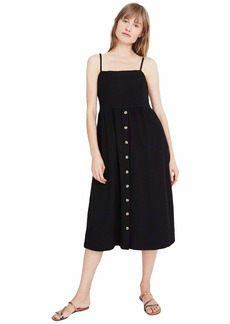 Madewell Texture & Thread Cami Button Front Midi Dress