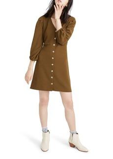 Madewell Texture & Thread Crepe Balloon-Sleeve Dress