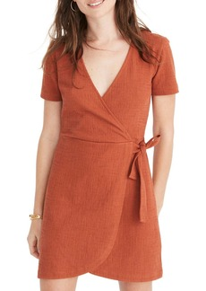 Madewell Texture & Thread Short Sleeve Side Tie Dress (Regular & Plus Size)
