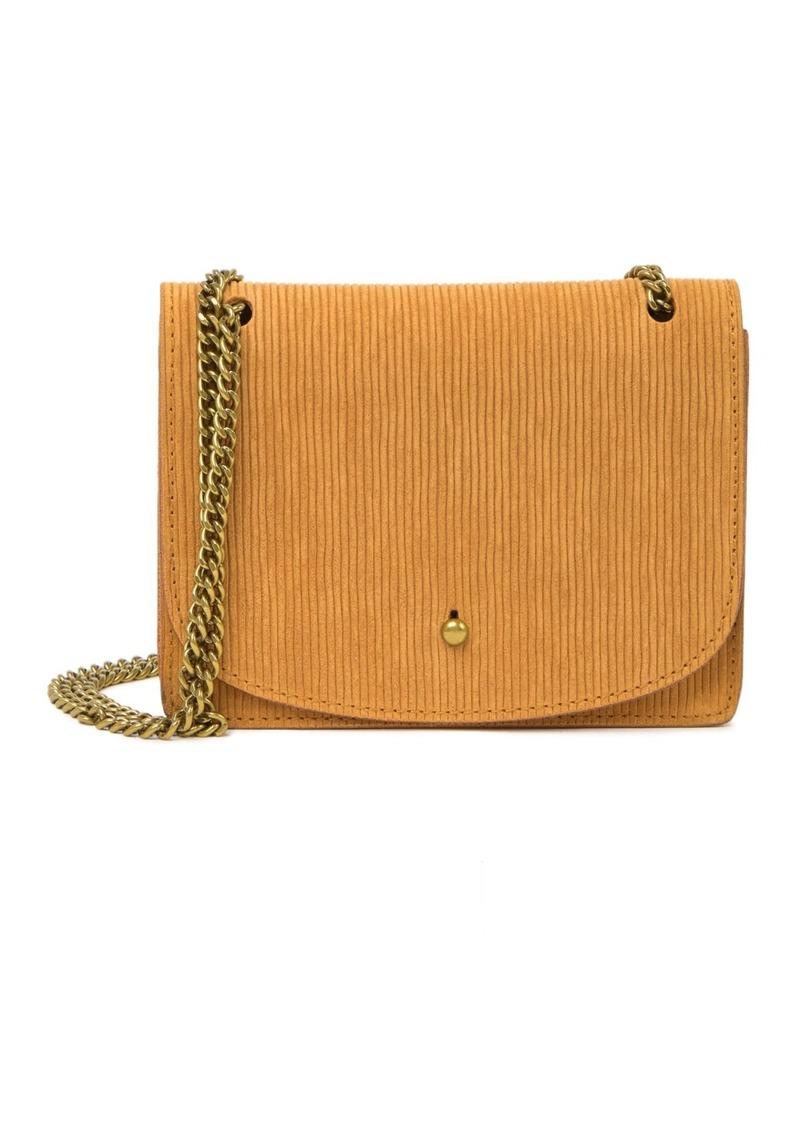 Madewell The Chain Corduroy Suede Crossbody Bag