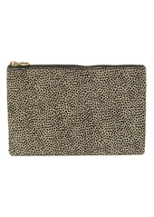 Madewell The Genuine Calf Hair & Leather Pouch Clutch