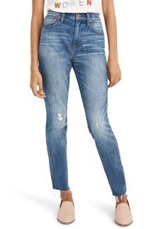Madewell The High Waist Crop Slim Boy Jeans (Regular & Plus Size)