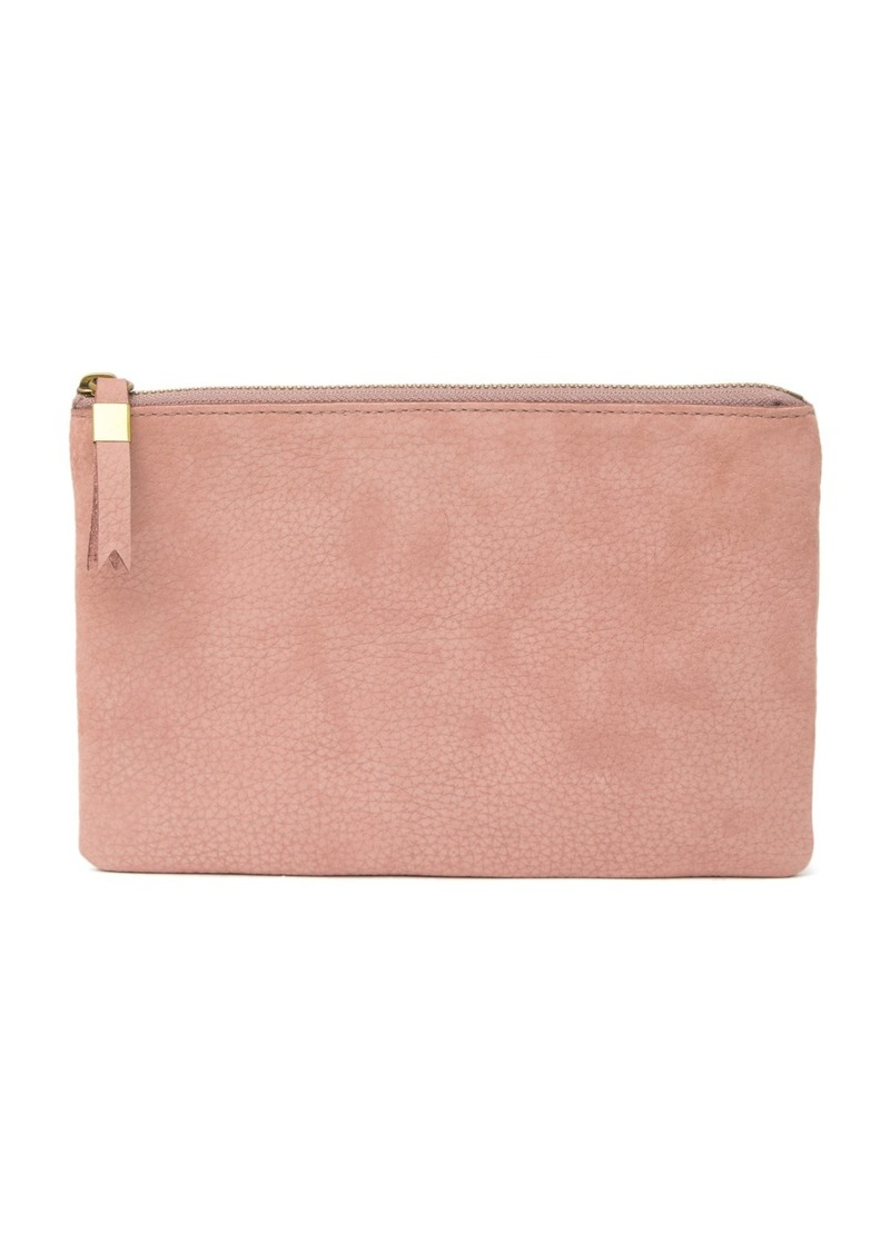 Madewell The Leather Nubuck Leather Pouch Clutch