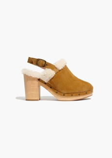 The Lesley Shearling Slingback Clog