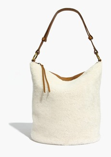 Madewell The Lisbon O-Ring Bucket Bag in Shearling