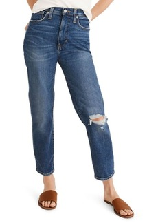 Madewell The Momjean Ripped High Waist Stretch Jeans (Regular & Plus Size)