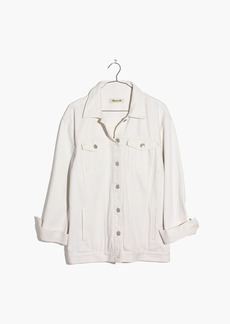 The Oversized Jean Jacket in Tile White