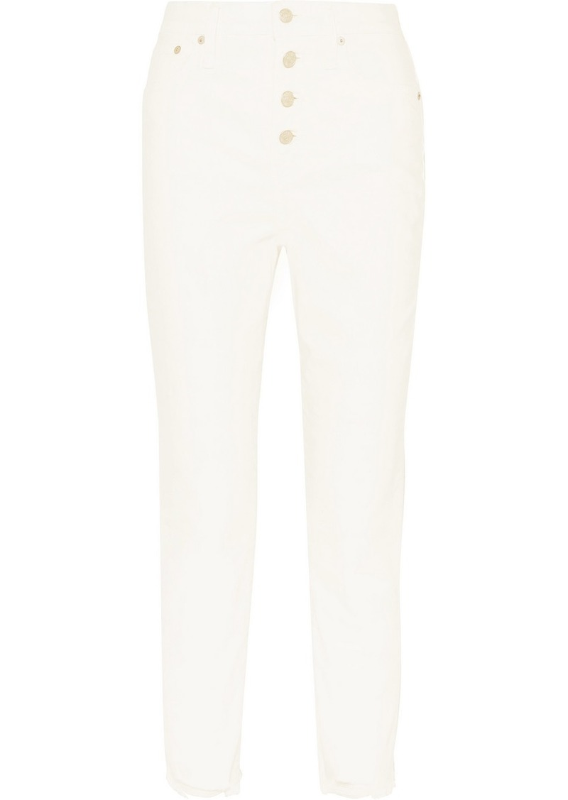 Madewell The Perfect Vintage Cropped High-rise Straight-leg Jeans