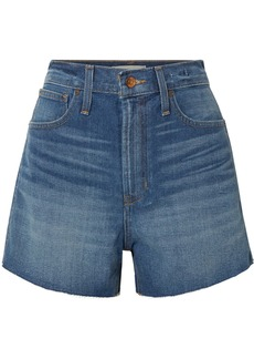 Madewell The Perfect Vintage Frayed Denim Shorts