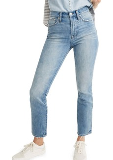Madewell The Perfect Vintage Heart Patch High Waist Jeans (Atwater)