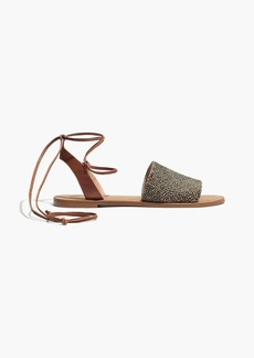 Madewell The Rena Lace-Up Sandal in Calf Hair