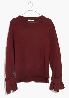 Madewell Tie-Cuff Pullover Sweater