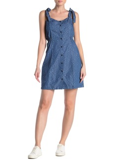 Madewell Tie Strap Button Front Dress