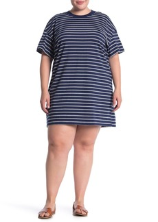 Madewell Tina Stripe T-Shirt Dress (Plus Size)