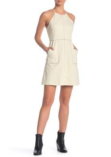 Madewell Topstitch Crisscross Midi Dress