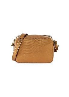 Madewell Transport Snake-Embossed Leather Camera Bag