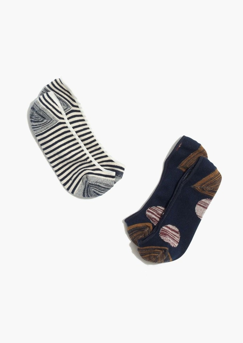 Madewell two-pack dots and stripes low profile socks