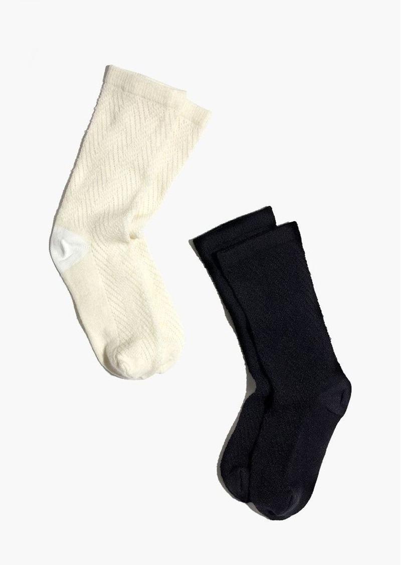 Madewell two-pack herringbone mix trouser socks
