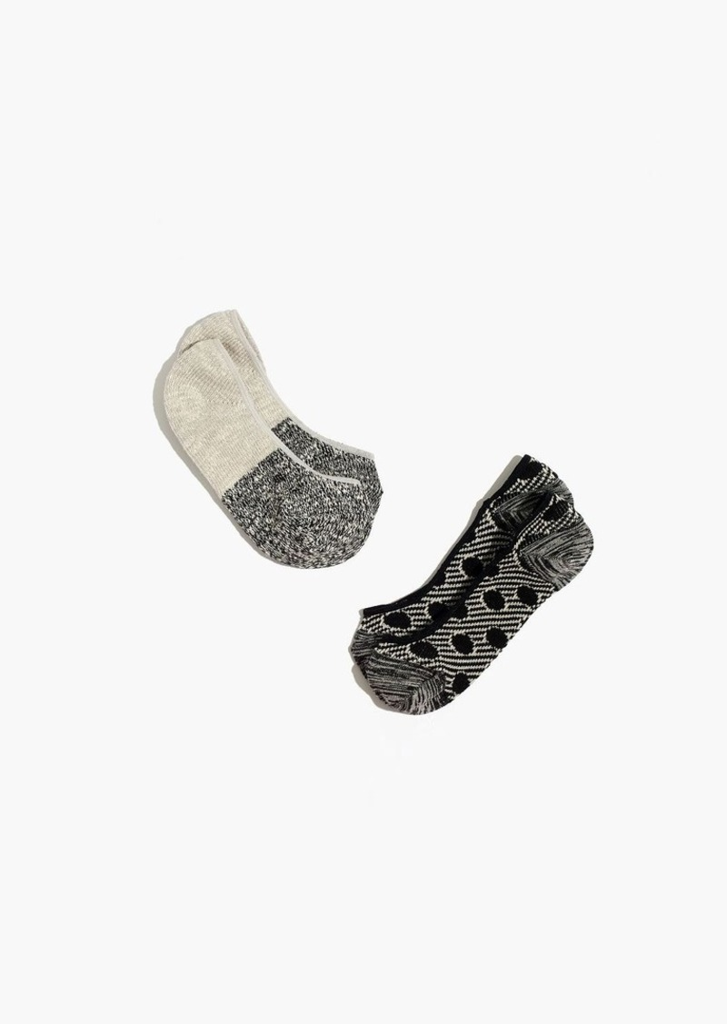 Madewell two-pack jacquard mix low-profile socks
