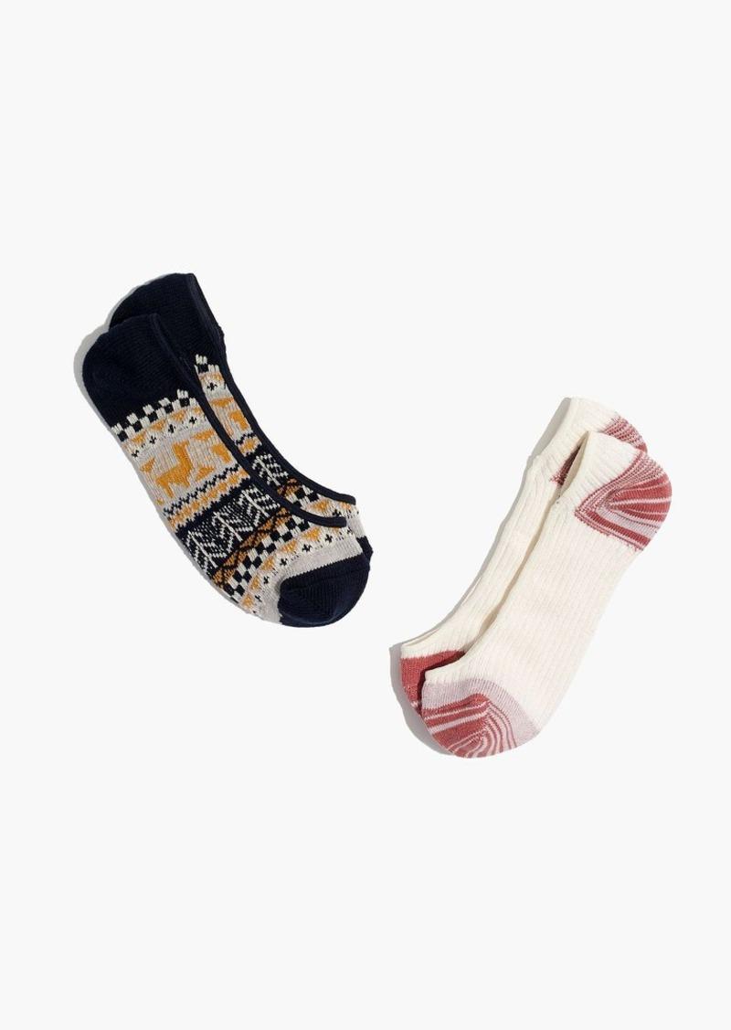Madewell two-pack llama mix low-profile socks