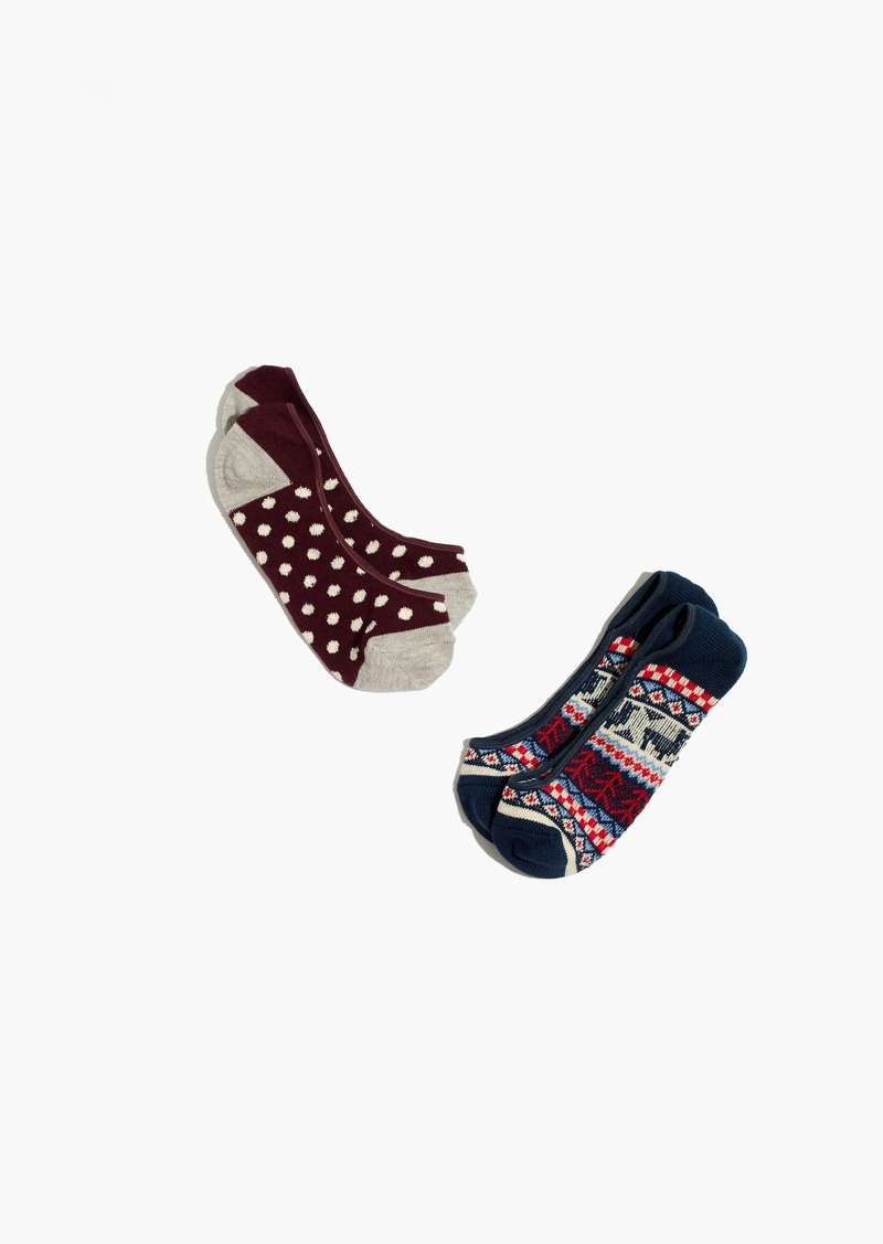 Madewell Two-Pack Llama Mix Low-Profile Socks