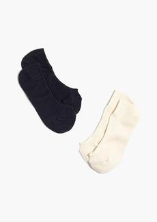 Madewell Two-Pack Ribbed Heather Low Profile Socks