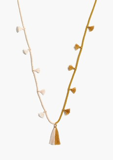 Madewell Two-Tone Beaded Tassel Necklace