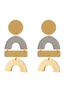 Madewell Two-Tone Flatform Statement Earrings