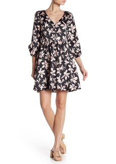Madewell V-Neck Floral 3/4 Sleeve Dress