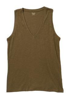 Madewell V-Neck Knit Tank Top (Regular & Plus Size)