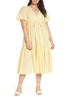 Madewell V-Neck Tiered Cover-Up Dress (Regular & Plus Size)