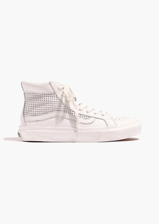 Vans® Unisex Sk8-Hi Slim High-Top Sneakers in Perforated Leather