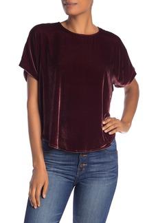 Madewell Velvet Short Sleeve Top
