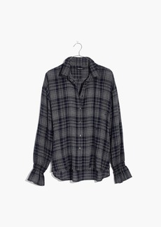 Madewell Westward Bell-Sleeve Shirt in Plaid