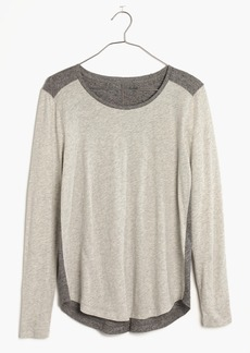 Madewell Whisper Cotton Long-Sleeve Crewneck Tee in Colorblock