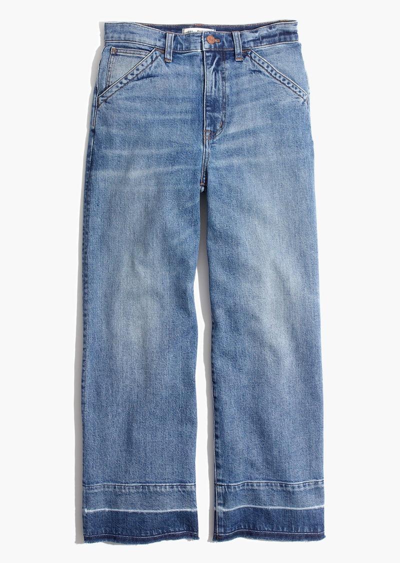 fc10f20ff2032 Madewell Wide-Leg Crop Jeans  Drop-Hem Edition