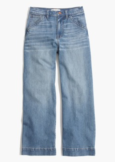 Wide-Leg Crop Jeans in Birdie Wash
