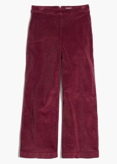 Madewell Wide-Leg Crop Jeans in Corduroy